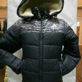 Зимние тёплые курточки на мальчиков. Размеры: 36-44 - от 128 до 158 см. Два варианта