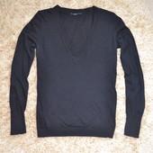Кофта чёрная с V-вырезом, бренд Нema, Голландия