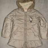 чудова, тепла курточка Hello Kitty еврозима р.122-128