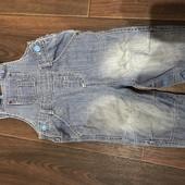 Комбинезон джинсовый Марк Спенсер 9-12 мес состояние отличное