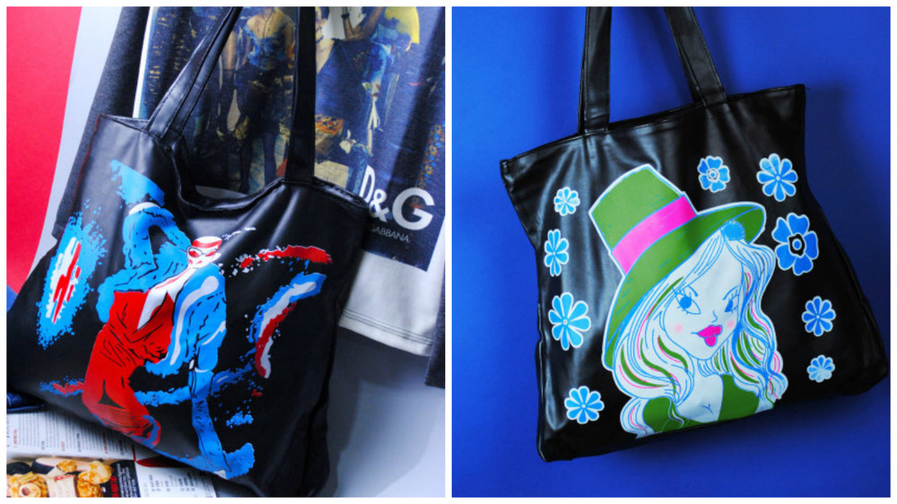 LuckyBag - Молодежные сумки из ткани и эко-кожи цвет крас