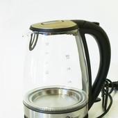 Дисковый электрический стеклянный чайник Domotec