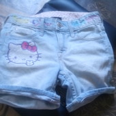 шорты джинсовые Китти 6-7 лет