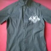 Классная х/б  рубашка для подростка с вышивкой