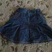 Джинсовая юбка для девочки р.140