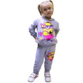 Отличный костюм с начесом на девочку 92-98см ,100% хлопок!