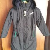 Новая курточка- пальто на девочку, еврозима, от 146см