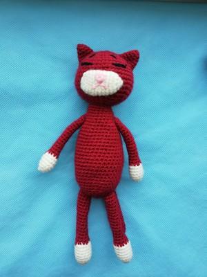 вязаная крючком игрушка амигуруми кот купить 14238487 интернет