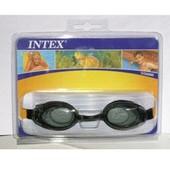 Очки для плавания Intex 55688, чёрные. Уп - оплата при получении