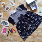 Летнее 100% натуральное Платье бантик для принцесс!! 1/2,3,4,5 ,6 с заграницы.. Лот