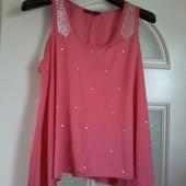 милая блуза туника для королевы р. 22 в идеале. смотрите замеры