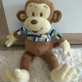 Фирменная мягкая игрушка обезьянка U.S.A состояние новой  37см