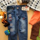 Новые классные джинсы Sani +замеры 9 мес., 12 мес., 2 года.