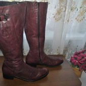 Добротная мягкая кожа сапожки из Германии р 43 ст 30 см изнутри,полная ножка и голень