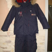 Зимний комбенизон и куртка мальчику 104 см-большемерит, см замеры.