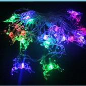 8 видов VIP серия!!! Гирлянда светодиодная - башмачки, олени, сосульки, шишки и.. 5 метров, 28 ламп.
