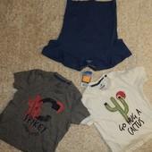 комплект: три футболки  на мальчика от Lupilu.