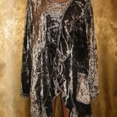 Модно и стильно! Блуза/туника с велюровым напылением Rapp! Состояние новое!