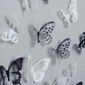 Прозрачные бабочки с чёрно-белыми узорами на крылышках .Твоя сказка в доме!уп28грн