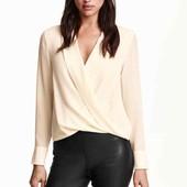 Блуза с запахом F&F размер указан 10