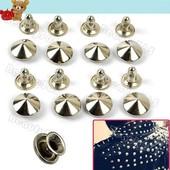 металлические заклёпки-конусы для украшения одежды,сумок,обуви,аксессуаров.\10шт\