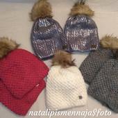 Хит! Крутые шапочки для детей и взрослых! С напылением или люрекс.нитью и на флисе!