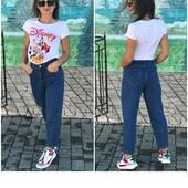 фірмові джинси моми. високі бойфренди.100%котон