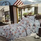 Бязевый полуторный постельный набор. Производство Украина.