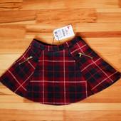Клетчатая юбка zara на девочку 110 см рост