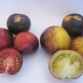 Семена цветных томатов (мои). Лот -любые 2 сорта