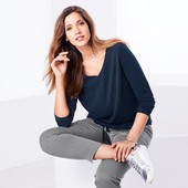 ☘ Комфортная блуза с V-образным вырезом от Tchibo(Германия), наши размеры: 42/44 (36/38 евро)