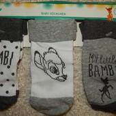 комплект: 3 пары, детские носки на мальчика от Disney. Р-р 15\18