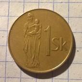 Монета Словении 1 крона 1993