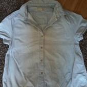 Джинсова сорочка від Зара на 10-12 років