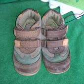 Ботинки осень/весна, 15,5 см, с подкладом, полностью кожанные