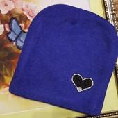 Демісезонні  трикотажні шапочки на флісе