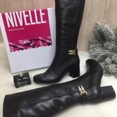 Кожаные зимние женские сапоги Nivelle