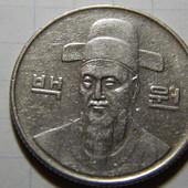 Монета. Южная Корея. 100 вон 1989 года. портрет адмирала Ли Сун-Сина.