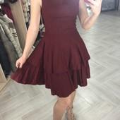 Стильное платье! Лен! 42р