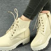 Новые женские ботинки деми, белые и беж,р-р 38,40,одна ростовка.