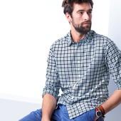 Рубашка из льна и органического хлопка , ворот контрастный от ТСм чибо германия,размер ххл  43-44