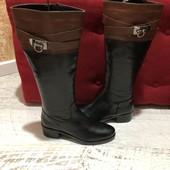 Високі чоботи із натуральної шкіри,від San Marina,розмір 36,стелька 23,5