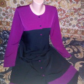 Шикарное дорогое лёгкое платье на пуговичках р.M,наш 46-48 р.Смотрите замеры!