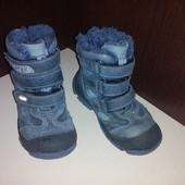 Качественные кожаные зимние ботинки Bartek, стелька 15 см.