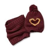Теплый комплект Сердечко: шарф-снуд и шапка, Tchibo(Германия), размер универсальный