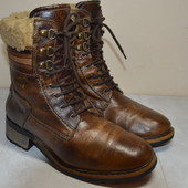 Женские кожаные ботинки  Del-tex  38 р.стелька 25 см.