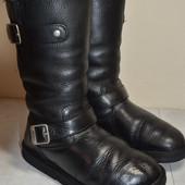 Женские кожаные угги на овчине  38 р.стелька 24 см.