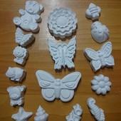 Разные наборы гипсовых фигурок под раскраску для детей) Лот от 16 до 20 штук