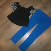 классные джинсы*F&F* +симпатичная блуза р.46/48(одним лотом)(сост.хорошее)