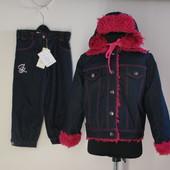 Пиджак и штаны , шапка Angel для девочки р.98